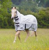 A selection of fly rugs and fly masks